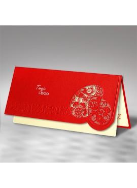 Kartka Świąteczna z Dwiema Wyciętymi Laserowo Pisankami W456