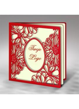 Kartka Świąteczna z Laserowym Wzorem Kwiatowym W452