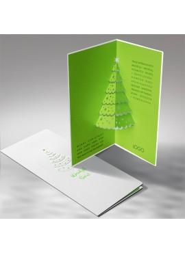 Kartka Świąteczna Zielona Choinka 3D FS479tb