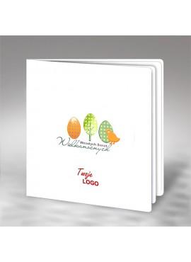 Kartka Świąteczna z Kolorowym Motywem Wielkanocnym W486