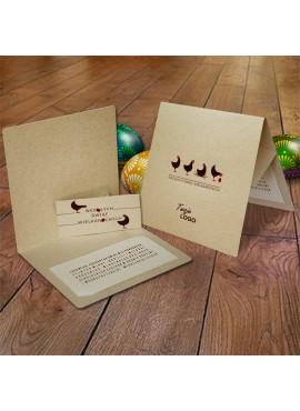 Kartka Świąteczna Eco Design z Aplikacją w Postaci Kartki z Życzeniami 3D W389
