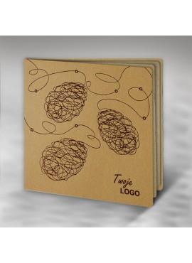Kartka Świąteczna Eco Design z Trzema Oryginalnymi Pisankami W410