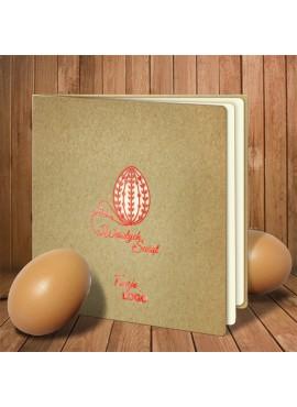 Kartka Świąteczna Eco Design z Motywem Jajka z Życzeniami W336