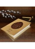 Kartka Świąteczna Eco Design z Drewnianą Aplikacją w Postaci Pisanki W423