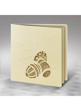 Kartka Świąteczna z Wyciętym oraz Wytłoczonym Motywem Wielkanocnym W271