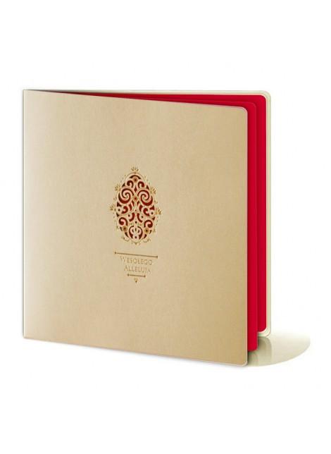 Kartka Świąteczna Pisanka Wycięta Laserowo ze Złoconymi Elementami W267