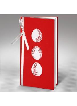 Kartka Świąteczna z Trzema Białymi Pisankami W326