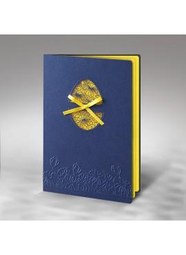 Kartka Świąteczna z Wyciętą Pisanką oraz Wytłoczonym Motywem Kwiatowym W278
