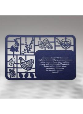 Kartka Świąteczna w Formie Wycinanki z Elementami Wielkanocnymi W332