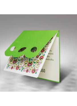 Kartka Świąteczna Trzy Pisanki Wycięte Laserowo z Motywem Kaszubskim W283