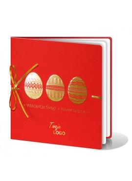 Kartka Świąteczna z Motywem Trzech Złotych Pisanek W250