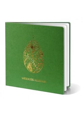 Kartka Świąteczna z Motywem Oryginalnej Złotej Pisanki W225