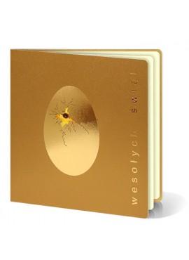 Kartka Świąteczna Złote Jajko z Popękaną Skorupką W210
