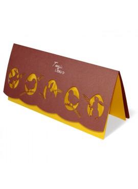 Kartka Świąteczna Wycięte Laserowo Jajka z Motywami Wielkanocnymi W246