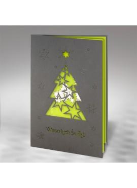 Kartka Świąteczna Choinka z Życzeniami FS787sc