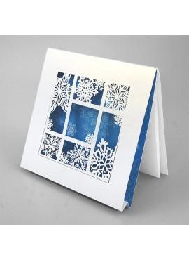 Kartka Świąteczna Trójwymiarowa Śnieżynki FS782tb