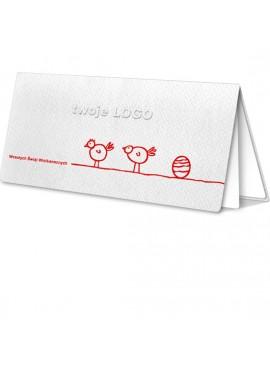 Kartka Świąteczna z Nadrukowanym Motywem Wielkanocnym W86