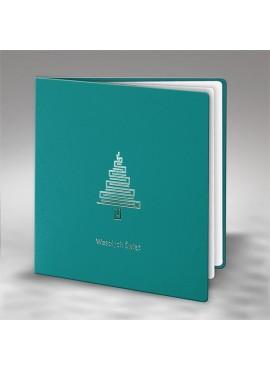 Kartka Świąteczna Geometryczna Choinka FS743t
