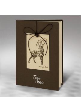 Kartka Świąteczna Renifer z Gałęzi Sosny FS815br