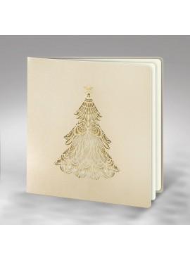 Kartka Świąteczna z Wyciętą Choinką FS819p