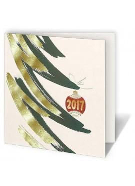 Kartka Świąteczna z Zarysem Choinki CFB005.057.12876