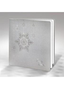 Kartka Świąteczna z Motywem Śnieżynki FS852s