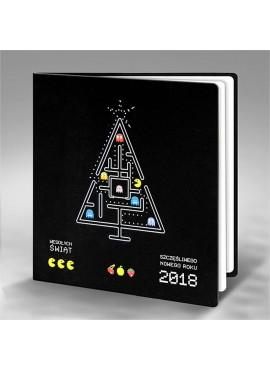 Kartka Świąteczna Choinka z Pac-Man FS720ag