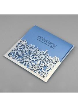 Kartka Świąteczna w Formie Kieszonki Śnieżynki FS829tb-n