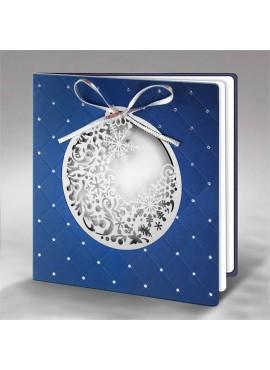 Kartka Świąteczna Bombka z Zimowym Wzorem FS788ng