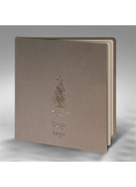 Kartka Świąteczna z Ornamentem Choinki FS886