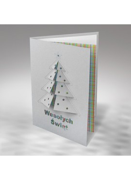 Kartka Świąteczna z Motywem Choinki FS785sp