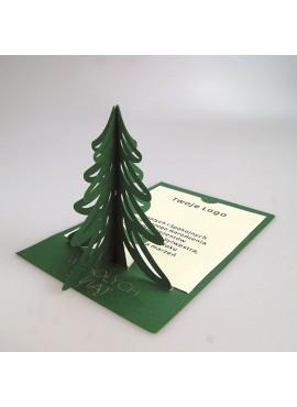 Kartka Świąteczna z Choinką 3D FS890