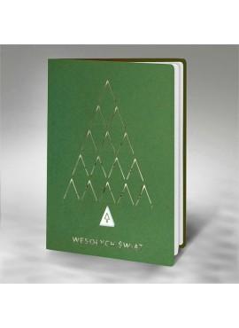Kartka Świąteczna z Motywem Choinki Wyciętej Laserowo FS906zl