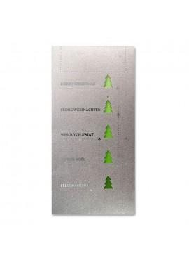 Kartka Świąteczna z Choinkami Wyciętymi Laserowo FS900s