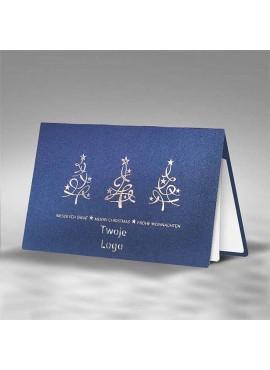 Kartka Świąteczna Trzy Srebrne Choinki FS870i
