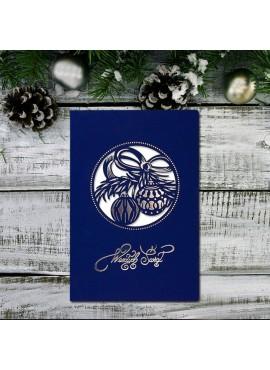 Kartka Świąteczna Motyw z Bombkami FS865ng