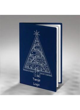Kartka Świąteczna z Biurowcem w Formie Choinki FS862ng