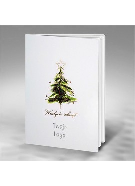 Kartka Świąteczna Choinka z Subtelnym Złoceniem FS860bs