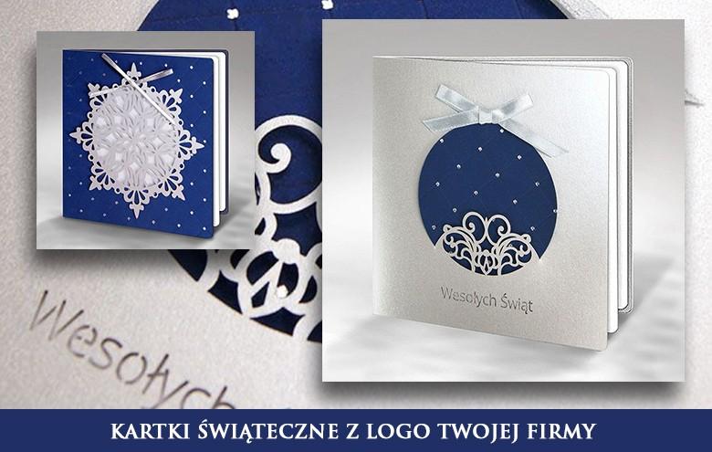 Kartki świąteczne biznesowe z logo firmy